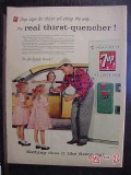 7up 1956 cola soda pop seven up drink machine vintage ad