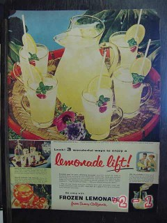 lemonade from sunny california 1956 citrus vintage ad