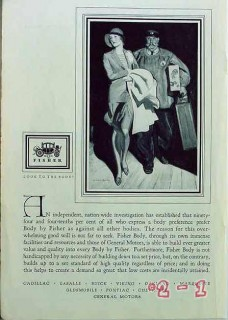 body by fisher 1929 mcclelland barclay general motors car vintage ad
