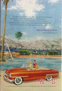 plymouth 1953 cranbrook convertible club coupe car vintage ad