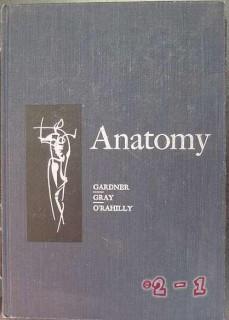 anatomy gardner gray orahnilly human structure vintage medical book