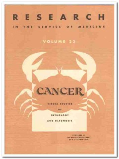 cancer visual studies pathology and diagnosis vintage medical book