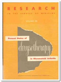 chrysotherapy in rheumatoid arthritis medical book