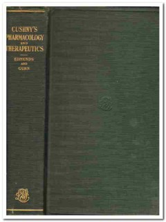 pharmacology therapeutics arthur cushny vintage medical book