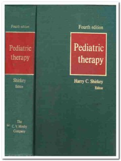 pediatric therapy harry shirkey vintage medical book