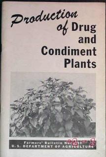 production of drug and condiment plants vintage farm book