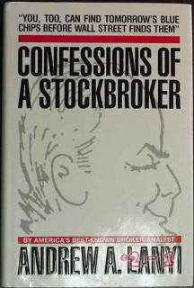 confessions of a stockbroker andrew lanyi broker analyst signed book