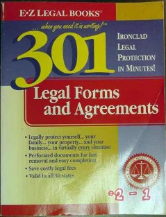 301 legal forms and agreements valid in all states guide book