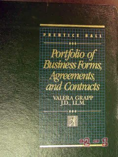 portfolio business forms agreements and contracts valera grapp book