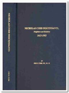 nicholas cobb descendants neighbors relatives joe cobb genealogy book