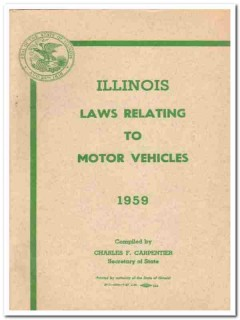illinois laws relating motor vehicles charles carpentier vintage book