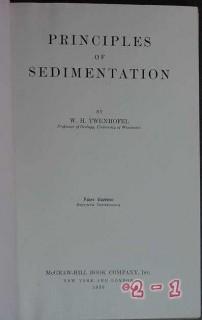principles of sedimentation by wh twenhofel vintage geology book