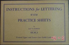 instructions for lettering practice sheets ray hobein book
