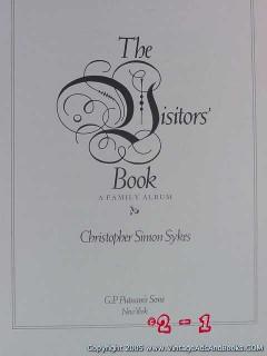 the visitors book family album christopher simon sykes genealogy book