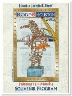 houston livestock show rodeo souvenir program 2001 book