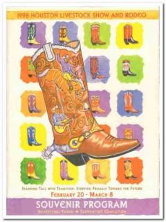 houston livestock show rodeo souvenir program 1998 book