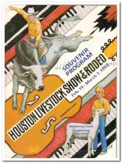 houston livestock show rodeo souvenir program 1999 book