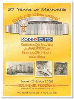 houston livestock show rodeo souvenir program 2002 book