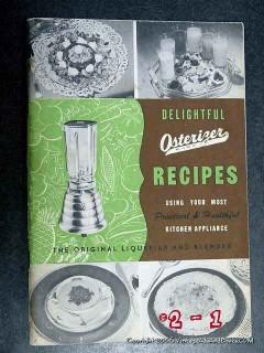 delightful osterizer recipes retro liquidfier blender vintage book