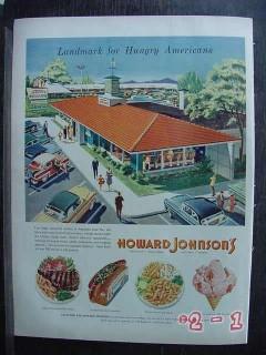 howard johnsons 1956 motor lodge restaurant vintage ad