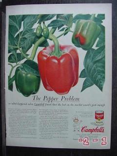 campbells soup 1956 the pepper problem vintage ad