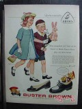 buster brown 1958 childrens easter shoes vintage ad