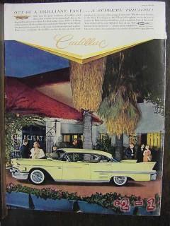 cadillac 1958 eldorado marusia gowns car vintage ad