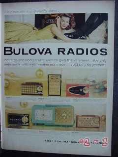 bulova radios 1958 bengal hercules comet jet imperial radio vintage ad