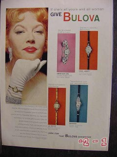 bulova watches 1958 empress la petite miss liberty american vintage ad