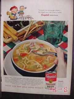 campbells soup 1958 minestrone vintage ad