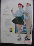 pepsi cola 1958 roller skates slim figures soda pop vintage ad