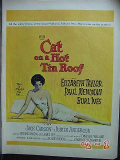 cat on a hot tin roof 1958 liz taylor paul newman movie vintage ad