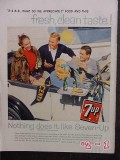 7up 1958 teens seven up bottles drive-in vintage ad