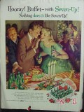 7up 1957 Christmas party zorro vintage ad
