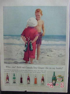 canada dry 1957 boys beach ginger ale soda pop vintage ad