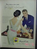 pepsi cola 1957 light refreshment party vintage ad