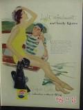 pepsi cola 1957 diving swim suit snorkel mask fins vintage ad