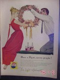 pepsi cola 1957 christmas wreath bottles soda vintage ad