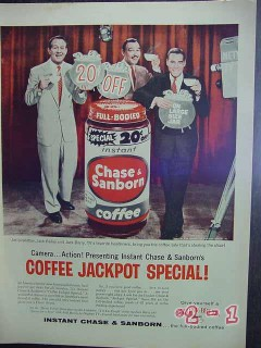 chase and sanborn 1957 linkletter jack bailey barry coffee vintage ad