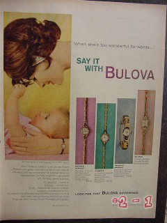 bulova watches 1959 18k gold womans watch vintage ad