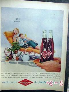 royal crown cola 1959 mother daughter rc vintage ad