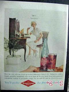 royal crown cola 1959 nurse prefer rc vintage ad