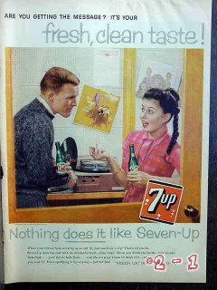 7up 1959 seven up records vintage ad