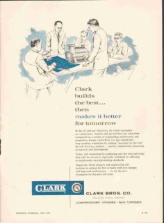 Clark Brothers Company 1959 Vintage Ad Oil Gas Compressor Engine Best