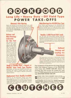 Borg-Warner Corp 1959 Vintage Ad Oil Field Rockford Clutches PTO