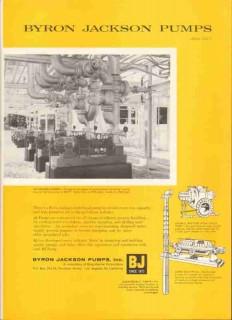 Byron Jackson Pumps Inc 1959 Vintage Ad Oil Gas Pipeline Submersable