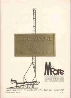 Lee C Moore Corp 1959 Vintage Ad Oil Field Derrick Steel Structures