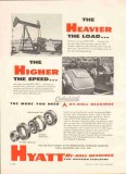 Hyatt Roller Bearing Company 1959 Vintage Ad Hy-Roll Heavier Higher