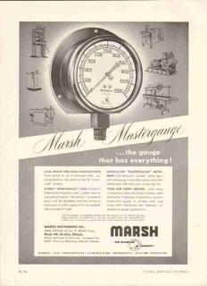 Marsh Instrument Company 1959 Vintage Ad Oil Gas Gauges Masterguage