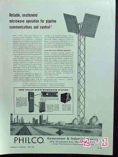 philco 1959 oil gas pipeline clr-9 reliable microwave radio vintage ad